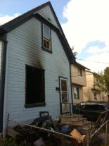 The aftermath of an arson M. caused (Tamara King/Winnipeg Sun)